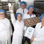 Pix: Shaun Flannery/shaunflanneryphotography.com COPYRIGHT PICTURE>>SHAUN FLANNERY>01302-570814>>07778315553>> 29th September 2015 Craft Bakers Week Most Loved Bakery 2015 North & Yorkshire Winner Brook Bakery, Sheffield L-R Jennifer John, Craft Bakers' Week, Susan Gravill, Adrian Barnard, John Emes Managing Director, Sharon Callaghan.